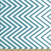 Simply Style Directional Chevron Cotton Fabric - Teal
