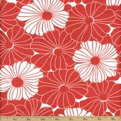 Simply Style Floral Cotton Fabric - Red
