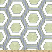 Simply Style Hexagon Cotton Fabric - Green