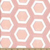Simply Style Hexagon Cotton Fabric - Red