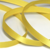 Single-Faced Satin Ribbon 1/4 inch  25yds - Yellow