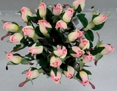 Single Rose Bud Spray 23in. - Pink - Box of 24 - Clearance