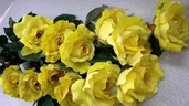 Single Rose Bud Spray 23in. - Yellow - Box of 24 - Clearance