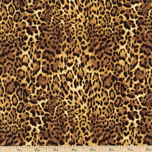 Skins Cheetah Print Cotton Fabric - Brown 33787-X - Beverlys.