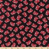 Smooches Charmed Cotton Fabric - Black