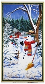 Snow Day Large Panel Cotton Fabric - White