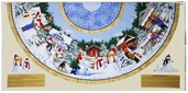 Snow Day Wide Tree Skirt Cotton Fabric - White