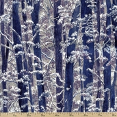 Snow Festival Forest Cotton Fabric - Dark Orchid