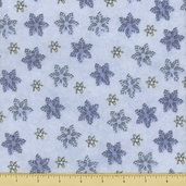 Snow Much Fun Snowflake Flannel Cotton Fabric - Periwinkle