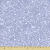 Snow Much Fun Swirl Flannel Cotton Fabric - Periwinkle
