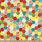 So Happy Together Cotton Fabric - Multi C3233