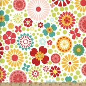 So Happy Together Cotton Fabric - White C3230