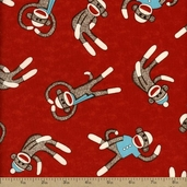 Socky Cotton Fabric - Red 35371-2