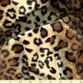 Soft Fur Leopard Print - Brown