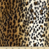 Soft Fur Print Cheetah II Polyester Fabric