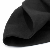 Solid Fleece Fabric - Black
