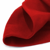 Solid Fleece Fabric - Red