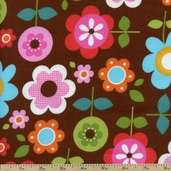 Sophie Flannel Flowers Fabric - Summer AAKF-9984-193 SUMMER