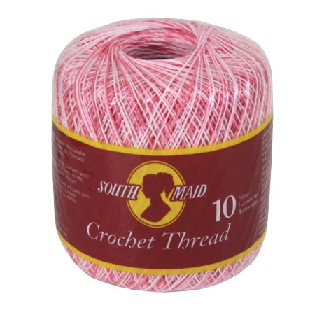 Crochet Thread Sizes : South Maid Crochet Thread Size 10 Shaded Pinks