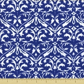 Spa Damasks Cotton Fabric - Cobalt 19581-16