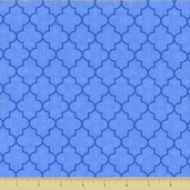 Spa Trellis Cotton Fabric - Blue 19585-16