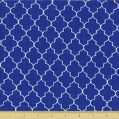 Spa Trellis Cotton Fabric - Cobalt 19585-14