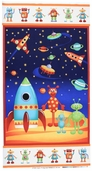 Space Cotton Fabric - Final Frontier Panel