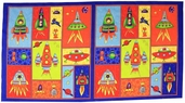 Spacebots Cotton Fabric - Panel - CLEARANCE