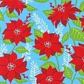 Sparkle All the Way Cotton Fabric - Snow