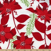 Sparkle All the Way Poinsettias Cotton Fabric - Holiday AFT-9787-223 HOLIDAY