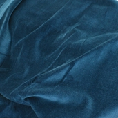Velvet Cotton Fabric - Cadet Blue