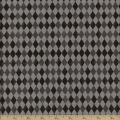 Spooktacular Checker Cotton Fabric - Grey