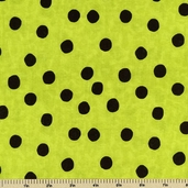 Spooktacular Too Cotton Fabric - Green Dot