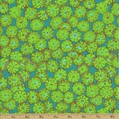 Spring 2012 Cotton Fabric - Sand Dollars - Green
