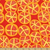Spring 2012 Cotton Fabric - St. Clements - Red