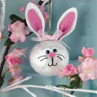 Spring Chicken Bunny Hop Easter Baubles