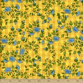 Spring Essence Picnic Floral Cotton Fabric - Yellow
