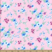 Spring Fling Small Floral Cotton Fabric - Pink