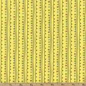 Spring Showers Curly Stripe Cotton Fabric - Yellow