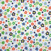 Spring Street Cotton Fabric - White
