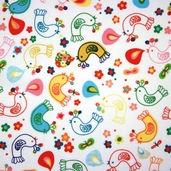 Spring Street Cotton Fabric - White Red
