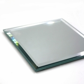 Square Craft Mirror - Bevel Edge 4 in - 6 Pkgs