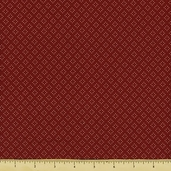 Square in Square Cotton Fabric Red 5892