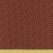 Square in Square Floral Cotton Fabric - Brown 5887