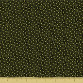 Square in Square Floral Cotton Fabric - Green 5888