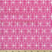 Squared Elements Cotton Fabric - King's Road Fuchsia