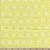 Squared Elements Cotton Fabric - King's Road Lemon