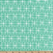 Squared Elements Cotton Fabric - King's Road Turquoise