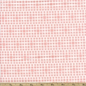 Squared Elements Cotton Fabric - Rosewater