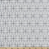 Squared Elements Cotton Fabric - Shadow